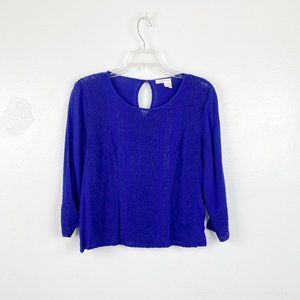 Anthropologie Meadow Rue | Royal Blue Salina Top
